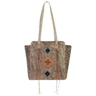 American West Navajo Soul Collection  Zip Top Tote