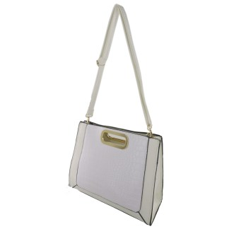 Silver Fever® Classic Cluch Shoulder Cross Body Bag Handbag White