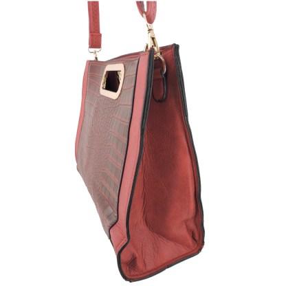 Silver Fever® Classic Cluch Shoulder Cross Body Bag Handbag Burgundy