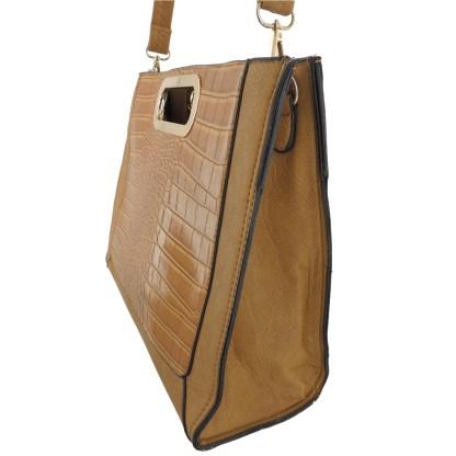 Silver Fever® Classic Cluch Shoulder Cross Body Bag Handbag Tan