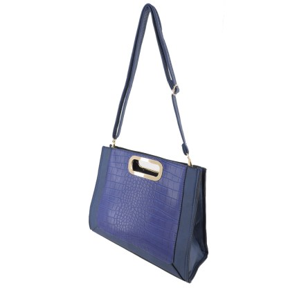 Silver Fever® Classic Cluch Shoulder Cross Body Bag Handbag Navy