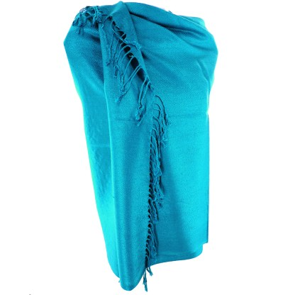 Nepal Solid Two Ply Warm Soft Pashmina Scarf Shawl Wrap By Silver Fever® Brand