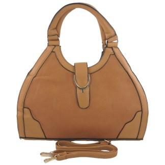 Silver Fever® Classic Satchel Gold Detail HandbagTan