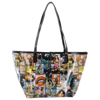 Silver Fever® Novelty Print Fashion Tote Multicolor & Black