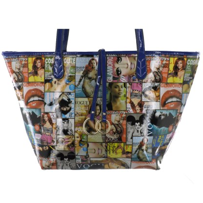 Silver Fever® Novelty Print Fashion Tote Multicolor & Blue