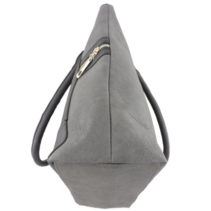 Silver Fever® Business Tote Zipside Handbag Charcoal Black