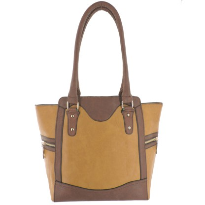 Silver Fever® Business Tote Zipside Handbag Light Brown Brown