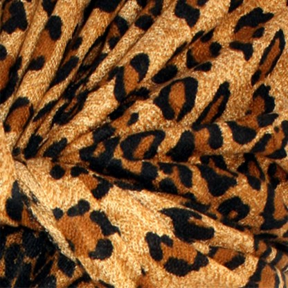 Graduated Leopard Print Brown & Coffee Pashmina Shawl Scarf Stole