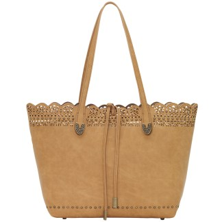 American West Bandana Darlington Lace Two in One Travel Tote  Golden Tan
