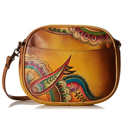 Anna by Anuschka Shoulder Cross Body Bag Round Royal Paisley