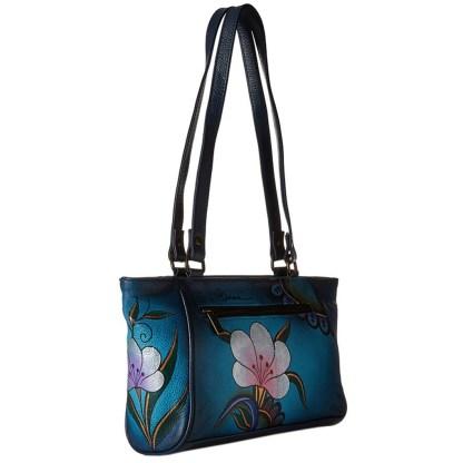 Anna by Anuschka Tote Handbag Shopper Denim Paisley Floral