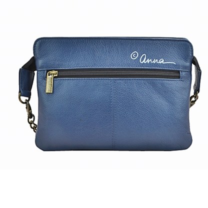 Anna by Anuschka Shoulder Handbag Clutch Madrigol Denim