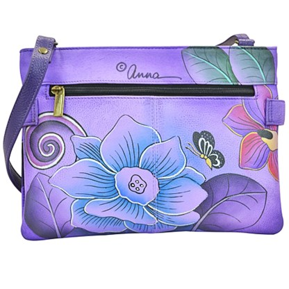 Anna by Anuschka Shoulder Cross Body Bag Medium-3 Festive Floral