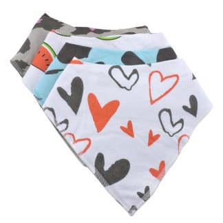 Baby Bandana Drool Bib Organic Absorbent Cotton Gift Set of 4 by Fashionista Babies Love Animal Prints