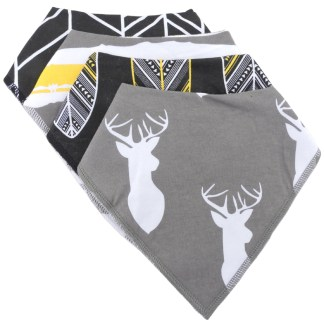 Baby Bandana Drool Bib Organic Absorbent Cotton Gift Set of 4 by Fashionista Babies Nature Lover