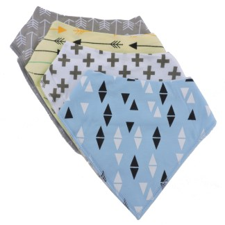 Baby Bandana Drool Bib Organic Absorbent Cotton Gift Set of 4 by Fashionista Babies Crosses & Arrows
