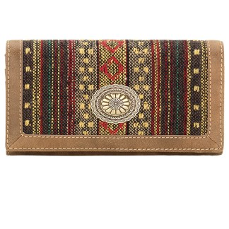 American West Bandana Ladies By-Fold Wallet Brown Serape