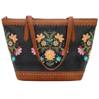 American West Bandana Carry All Travel Tote Charcoal Maya