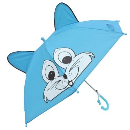 Fashionista Kids Animal Umbrella Sun Rain Protection Windproof Blue Cat
