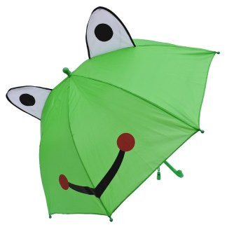 Fashionista Kids Animal Umbrella Sun Rain Protection Windproof Smiling Frog
