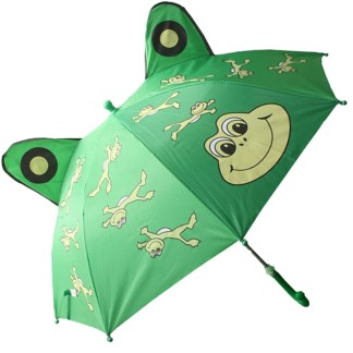 Fashionista Kids Animal Umbrella Sun Rain Protection Windproof Leaping Frog