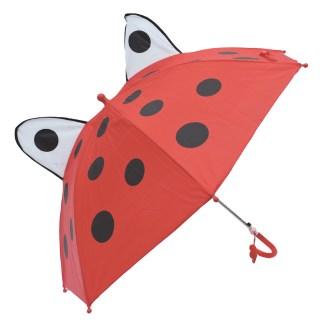 Fashionista Kids Animal Umbrella Sun Rain Protection Windproof Lady Bug