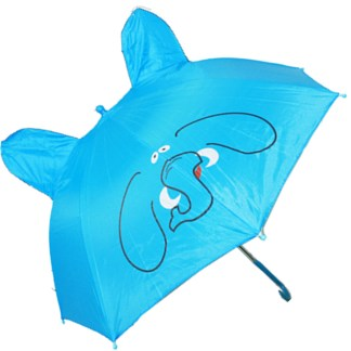 Fashionista Kids Animal Umbrella Sun Rain Protection Windproof Blue Elephant