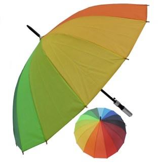 "Rain or  Sun UV Protection Umbrella Silver Fever ® 42 "" Canopy Coverage Windproof Rainbow"