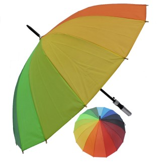 "Rain or  Sun UV Protection Umbrella Silver Fever ® 42 "" Canopy Coverage Windproof Rainbow"