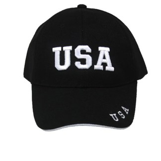 Silver Fever® Classic Baseball Hat 100% Adjustable Unisex Trucker Cap - Made to Last  USA Insignia Black