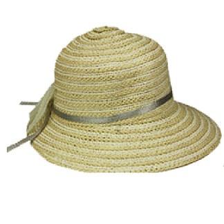 Silver Fever ® Women Summer Fancy Sun Hat Fits All  Beige Solid