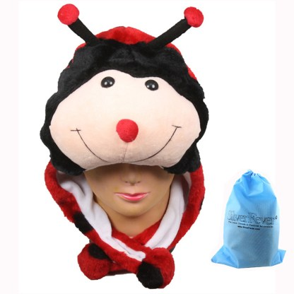 Silver Fever® Plush Soft Animal Beanie Ski Hat Lady Bug