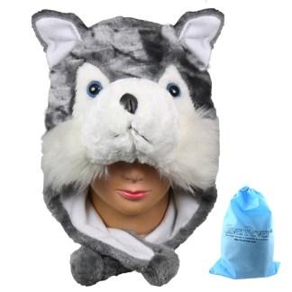 Silver Fever® Plush Soft Animal Beanie Ski Hat Huskey