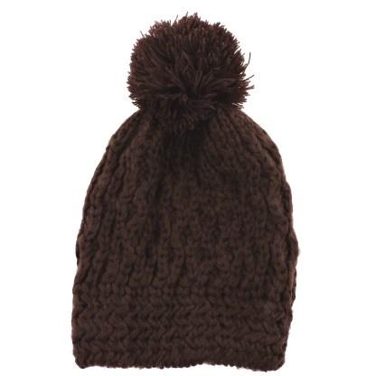 Silver Fever® Women Knitted Winter Hat Cup Ski Outdoor Sport Fashion Binnie Skullies Brown Honeycombed