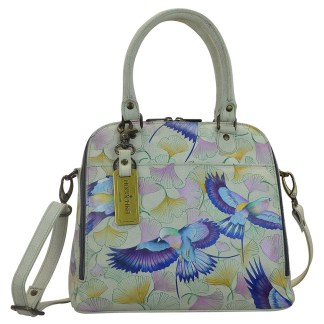 Anuschka Convertible Satchel- Hand Painted Real Leather Handbag Wings Of Hope