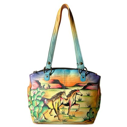 Anna By Anuschka Tote Handbag Med Convertible Arizona Mustang