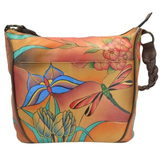 Anna by Anuschka Cross Body Handbag  Medium-4 Jewel Wing
