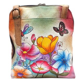 Anna By Anuschka Satchel Handbag Zip Around Floral Garden