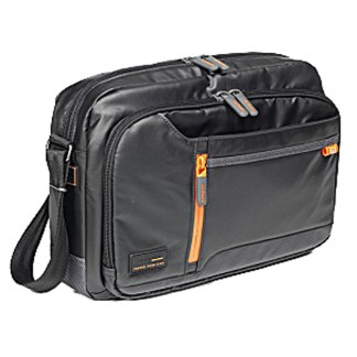 "Hedgren Men's Crossing Bag - Smart Sleeve & Charger- Intersection Horizontal Crossbody 10"" - Black Grey"