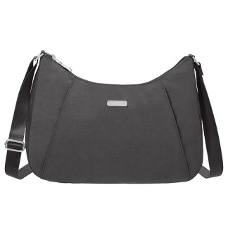 Baggallini Slim Crossbody Hobo Handbag with RFID Charcoal