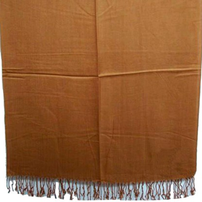 Nepal Solid Light Brown 2 Ply Pashmina Shawl Scarf Stole