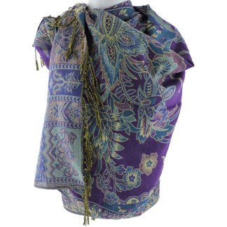 Silver Fever Pashmina - Jacquard Paisley Shawl - Stylish Scarf - Double Sided Wrap  Coco Floral [CLONE] [CLONE]