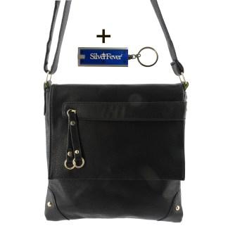 Silver Fever Fashion Crossbody Hipster Tote Indie Designed Handbag Black Tassle