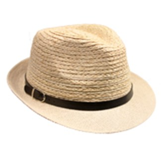 Silver Fever Stripped Panama Fedora Hat for Men or Women Sand