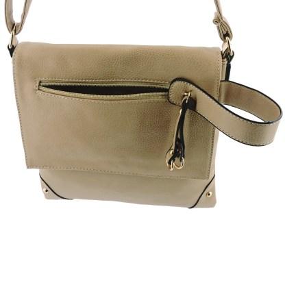 Silver Fever Fashion Crossbody Hipster Tote Indie Designed Handbag Khaki Tassle