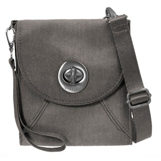 Baggallini Athens Cross Body - RFID Wallet Handbag -Travel Companion -  Sterling Shimmer