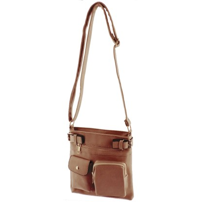 Silver Fever Fashion Crossbody Hipster Tote Indie Designed Handbag Coffee  3 Pck