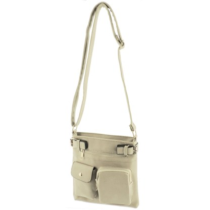 Silver Fever Fashion Crossbody Hipster Tote Indie Designed Handbag Appricot  3 Pck