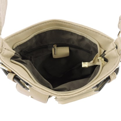 Silver Fever Fashion Crossbody Hipster Tote Indie Designed Handbag Black  3 Pck