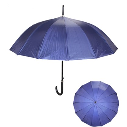 "Rain or Sun UV Protection Umbrella Silver Fever ® 42 ""CanopyCoverageWindproof Navy Blue"